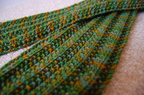 Forest Green Ribbed Scarf
