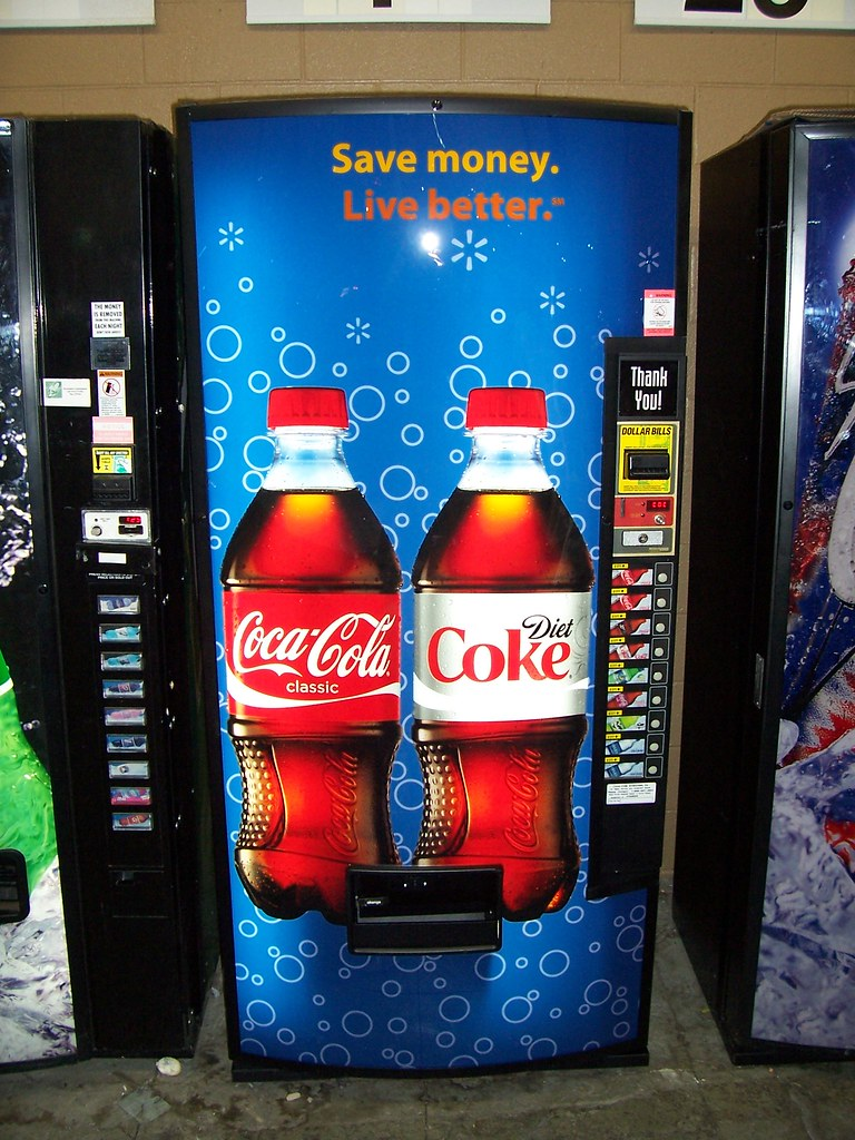diet coke soda machine