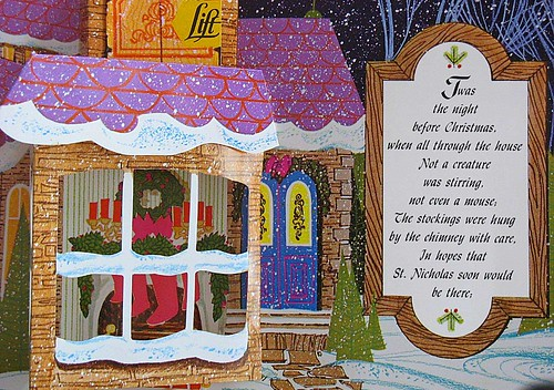 Night Before Christmas Vintage Pop up Book