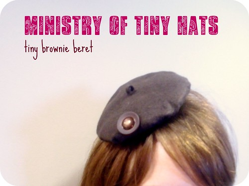 tiny brownie beret