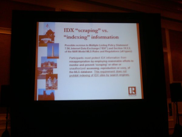 MLS committee rule on indexing. Hope you can read it. #midyear on Twitpic