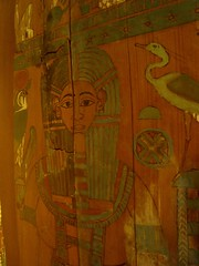 The Inside of a Third Intermediate Period Coffin (meechmunchie) Tags: ancient egypt egyptian sarcophagus mummy coffin dynasty funerary 22nd ancientegypt libyan priesthood papacy cartonnage newkingdom 21stdynasty mummycase 22nddynasty psusennes herihor yellowtype rammeside