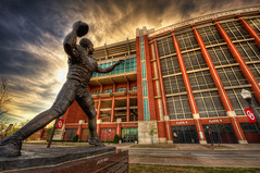 Heisman Immortalized (Sooner4Life) Tags: white jason college oklahoma field campus football nikon university stadium bob norman ou owen nikkor okc hdr heisman stoops oklahomauniversity d700 1424mm