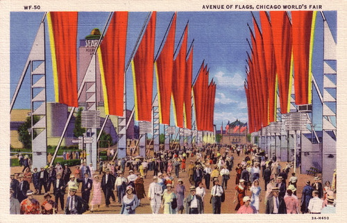 Avenue of Flags, Chicago World's Fair [WF-50]