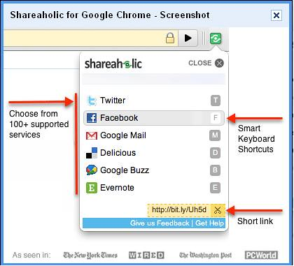 Chrome Shareaholic