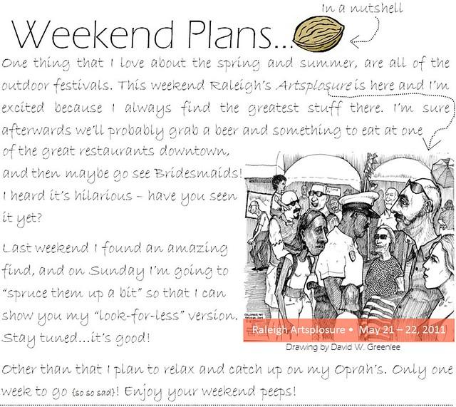 Weekend plans 5.20.11
