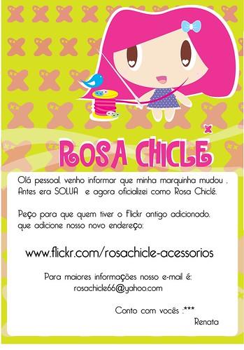 Adicionem nossa amiga Renata - Rosa Chiclé by Maria Chiclé ● Design Fofys