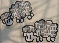 Graffiti sheep in Ljubljana