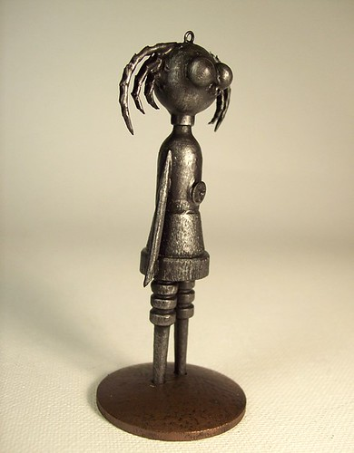 Goth Girl ROBOT Chick Statue AND Pendant 2