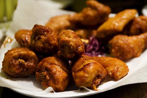 large fried chicken platter