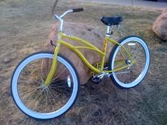 new yellow bike