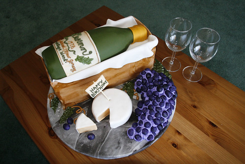 Gwenns Wine Bottle Birthday Cake