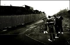 Hanging around (Mayastar) Tags: bw glasgow streetphotography dodgy hangingaround whiledriving shettleston mayastar eastendofglasgow thisisnottheidyllicwestend thisisglasgow mayastarphotography shotinglasgow