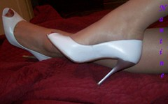 White leather peep toe 5