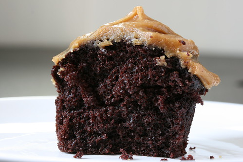 Innards: Chocolate Cupcake with Peanut Butter Frosting