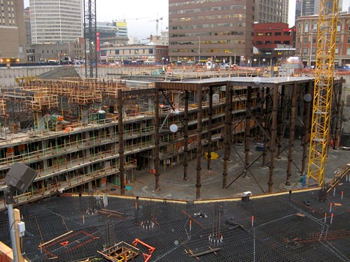 Big concrete pour at EnCana building