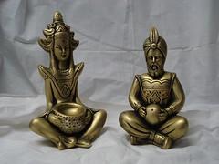Casal Hindu médio (Digo Pessoa) Tags: bonecas arte afro artesanato imagens decoração gesso pinturas africanas decorativo