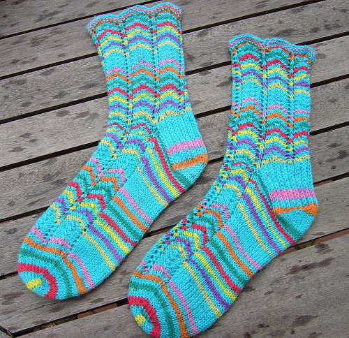 Summer Chevron Socks
