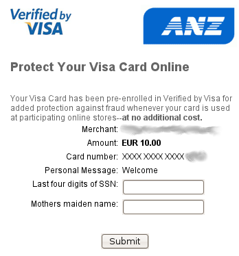 A useless Verified by Visa dialog courtesy of ANZ