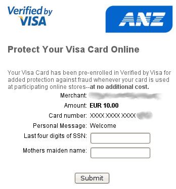A useless Verified by Visa dialog courtesy of ANZ