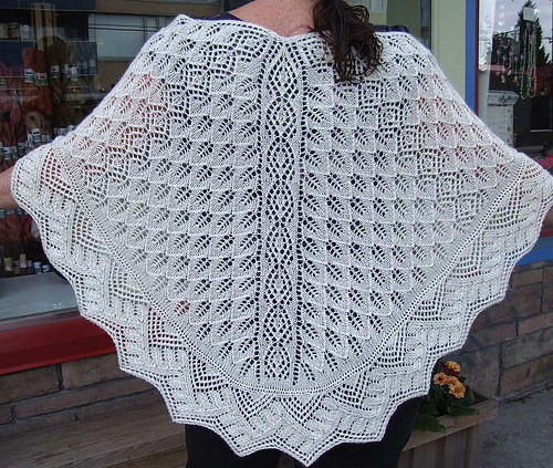 Harbour Lights Shawl back view