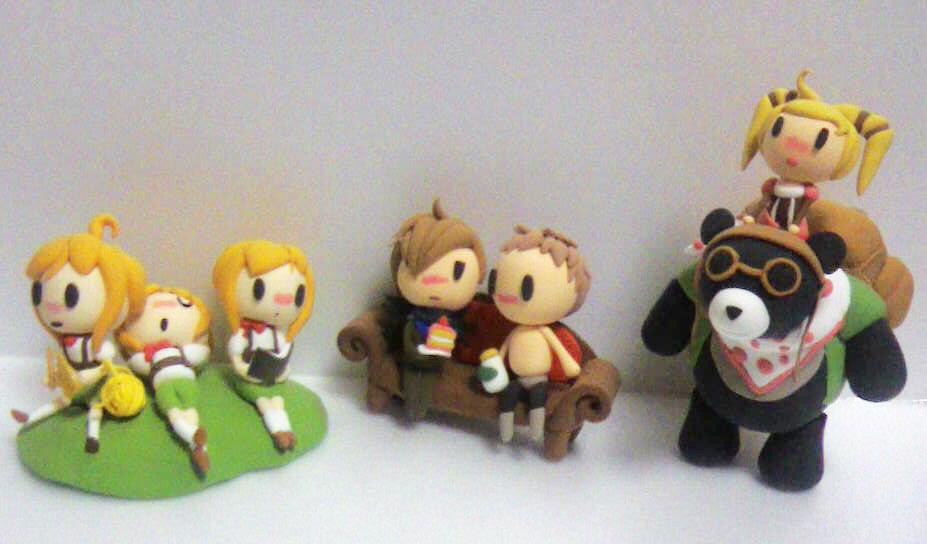 GEChibis 3Cathys+Gavin+Scout+Clare+Bear
