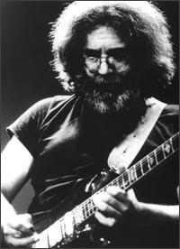 Jerry Garcia but not of the Grateful Dead, nope, not on this night.  Date of pic unknown to me at the present time.