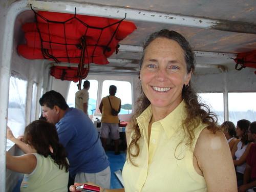 Lori Lambertson de camino a la Isla de Chira- 6. Festival Internacional de Matemática
