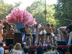 Madrid Pride 2005 (fusion68k) Tags: 2005 madrid pink gay shirtless people man sexy male men guy beautiful drag underwear pentax chest feathers handsome marcia rosa hunk glbt guys pride males shorts hottie gaypride stud drags studs studly sfilata optios parata gogoboys piume madridpride2005 file:name=imgp1949jpg