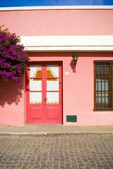 Way Pink (babalucci) Tags: door pink autumn building green fall southamerica architecture canon buildings uruguay doors colonia bougainvillaea coloniadelsacramento thegalleryoffinephotography