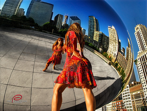 Chicago through the Bean