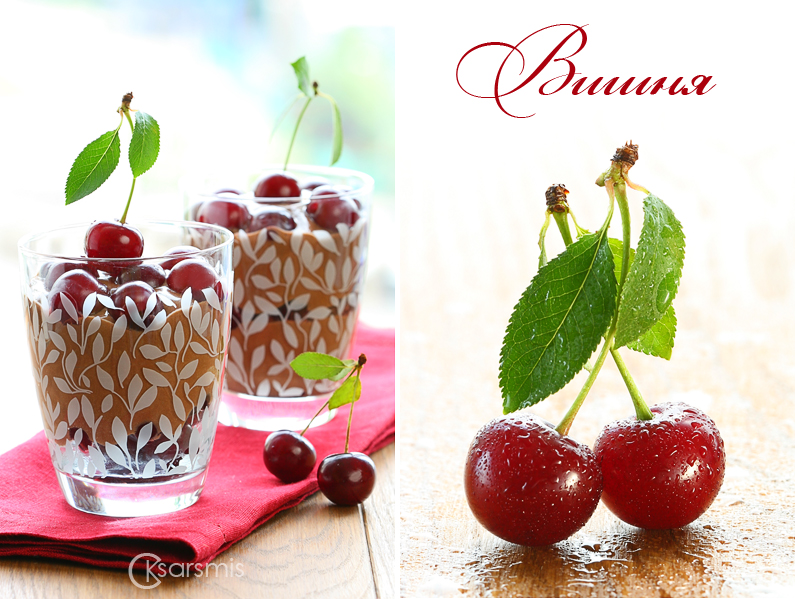 Chocolate cherry mousse