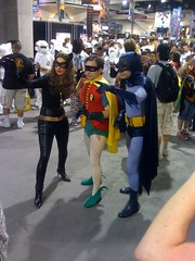Catwoman, Robin, and Batman