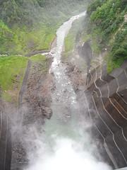 ダムの中心の真上から2