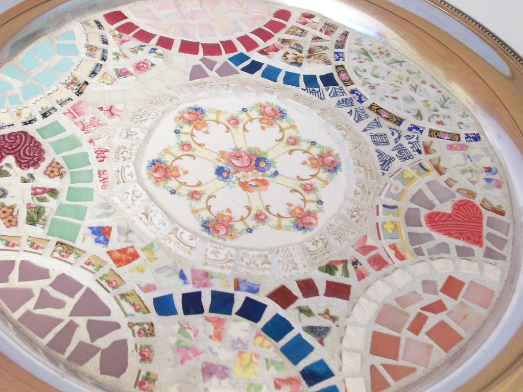 Silver Mosaic Tray