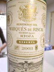2003 Marqués de Riscal Rioja Reserva
