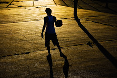 Practicing Till The Sun Sets.... (RLJ Photography NYC) Tags: boy sunset basketball alone working explore practice challengeyouwinner colorphotoaward aplusphoto simplysuperb thechallengefactory flickrlovers thepinnaclehof tphofweek10