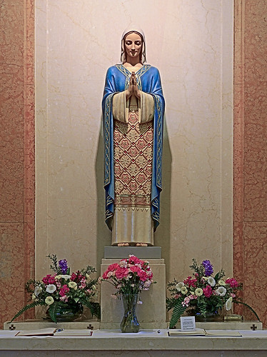 Saint Gabriel the Archangel Roman Catholic Church, in Saint Louis, Missouri, USA - statue of the Blessed Virgin Mary