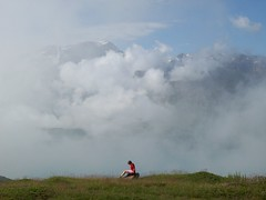 clouds (santosbanjo) Tags: italy mountain france mountains alps grass fog clouds alone mother steam mind thinking unreal moncenisio