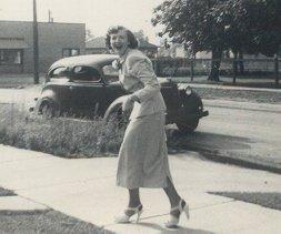 mom near car