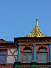 town hall roof (Joggl) Tags: schwabach goldennight