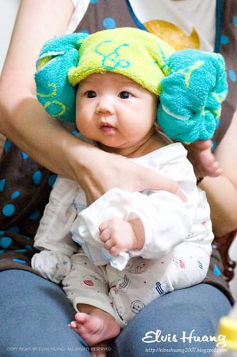 丸子妹羊角帽新造型發表