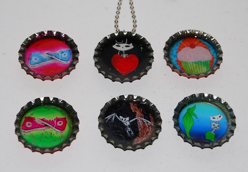"1"" BOTTLECAP NECKLACES"