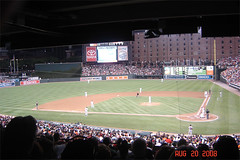 Our view at Orioles Park in Camden Yards