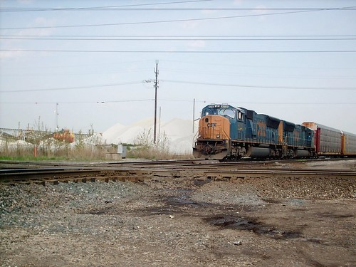 Southbound CSX Auto Rack transfer train. Mc Cook Junction. Mc Cook Illinois. May 2007. by Eddie from Chicago