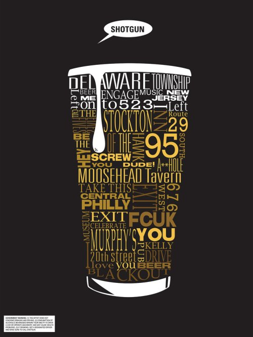 deviantart, typography by smooth as sandpaper - beer drunk