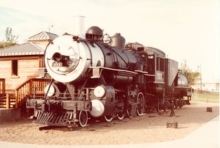 Preserved Union Pacific 2-8-0 # 533. Rawlins Wyoming. 1984. by Eddie from Chicago