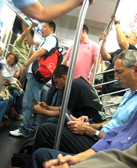 New York Subway Saturday morning travellers
