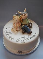 viking & princess (Bettys Sugar Dreams) Tags: cake princess hamburg viking taufe torte fondant gumpaste wikinger cakedecorating prinzessin wicki motivtorte tauftorte bettyssugardreams christianingcake bettinaschliephakeburchardt