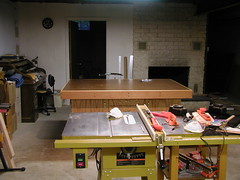 Assembly Table View from Behind Table Saw